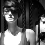 mannequins, sunglasses, window display, store front, merchandising